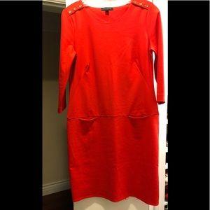 Banana republic orange/red dress